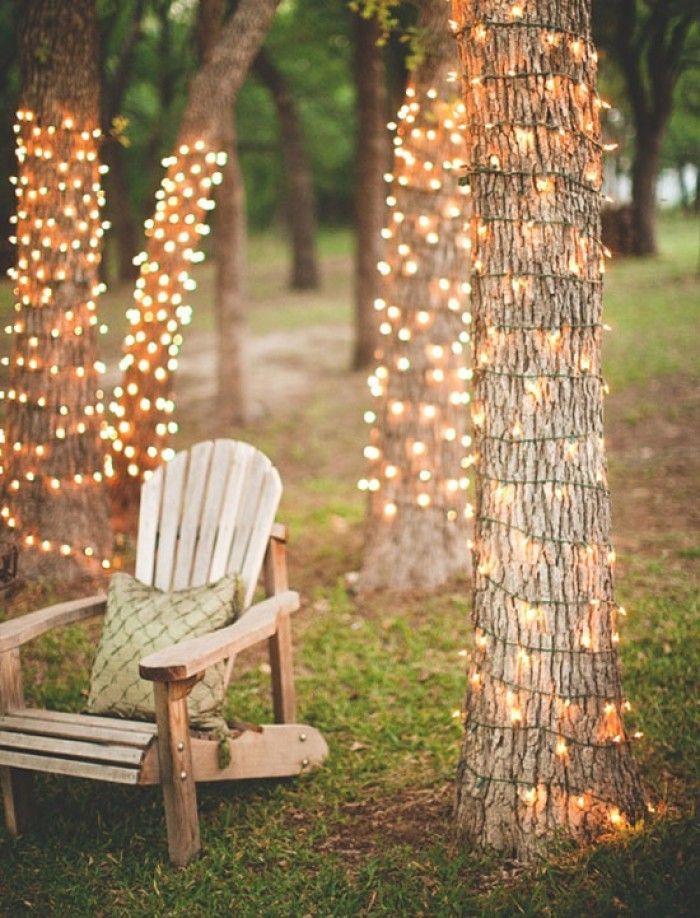 Tolle Gartendeko für eine gemütliche Gartenparty Bäume mit