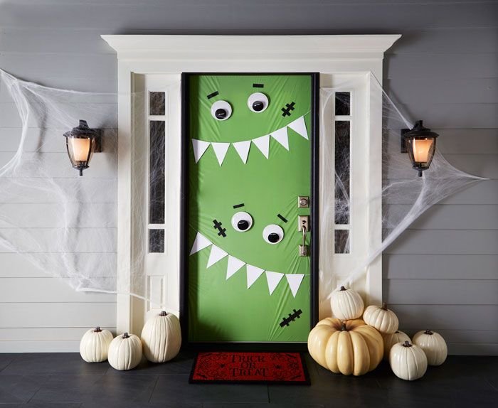haunting halloween door decorations