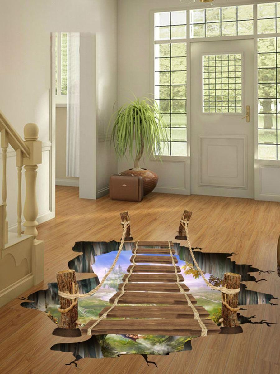 3D Bridge Floor Decal SheIn(Sheinside) Piso de