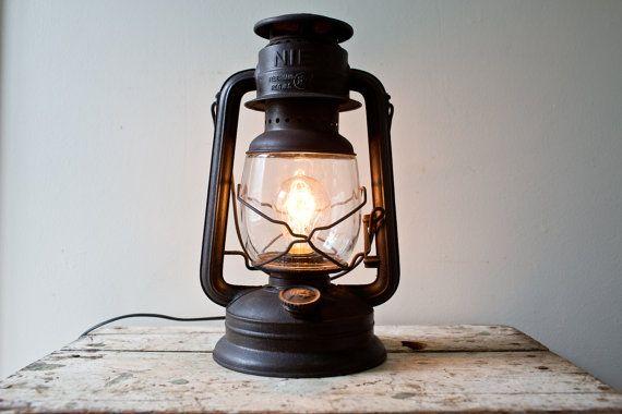 Nier Kerosene Lantern Converted Electric Plugin By Whiskyginger 95 00 Oil Lantern Lamp Novelty Lamp
