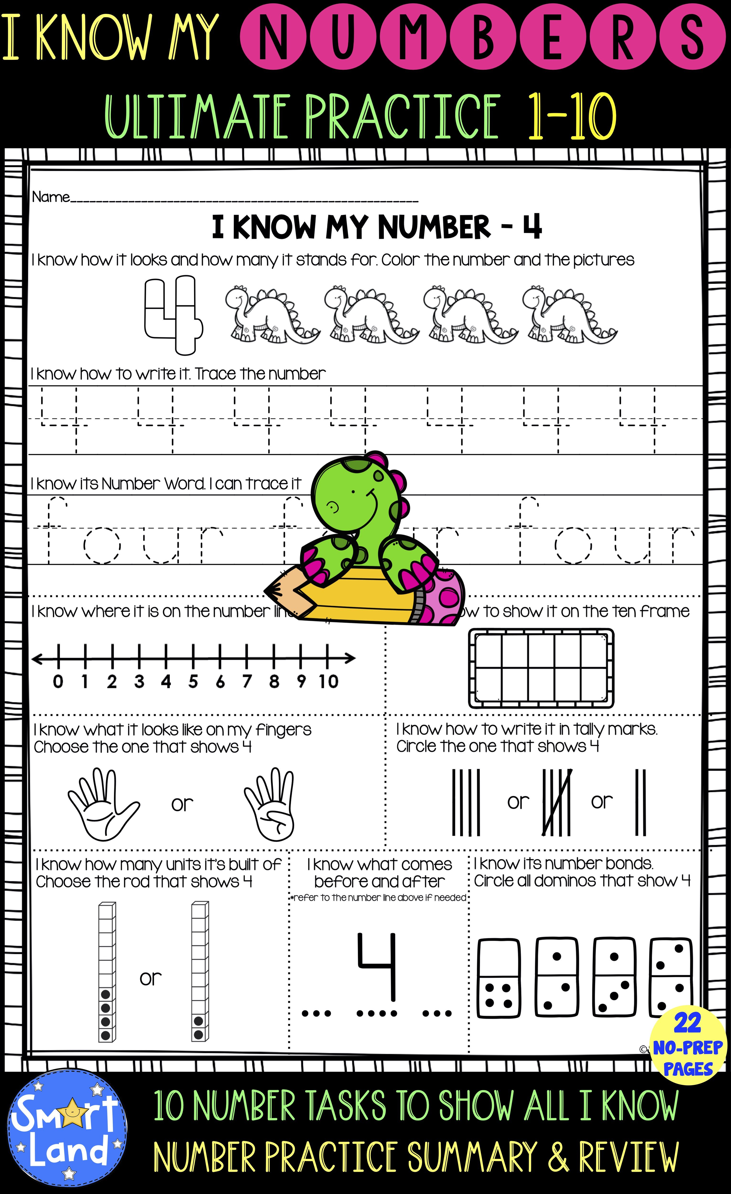 Number Practice I 10 All I Know About Numbers In