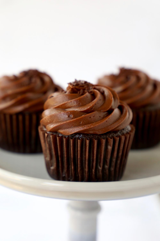 The Best Ever Chocolate Fudge Cupcakes | Joy + Oliver