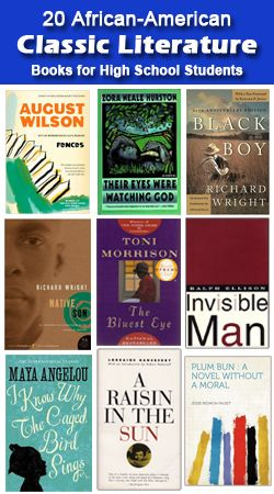 20 African American Classics For High Schoolers 20 Classic African