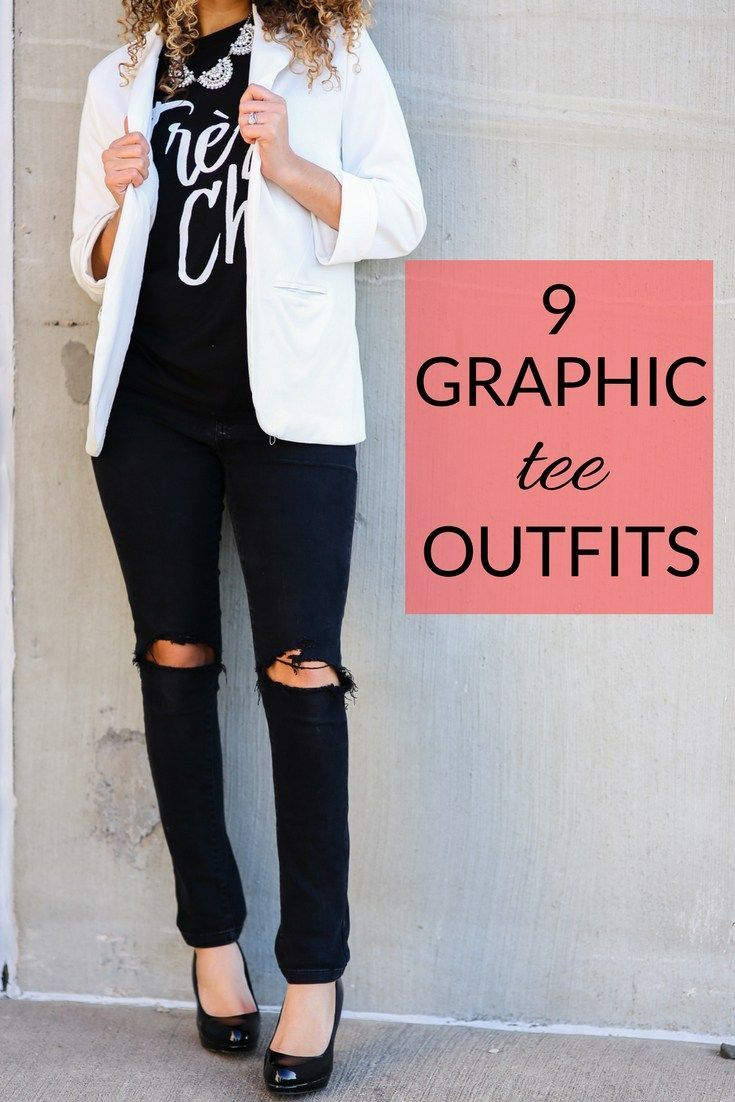 9 NonBoring Ways to Wear a Graphic Tee  MY CHIC OBSESSIONchic