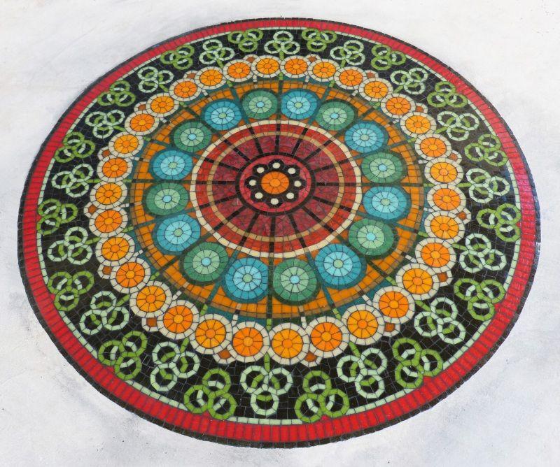 Detalle mandala piso Mural Mosaiquismo   mosaicos   Pinterest ...