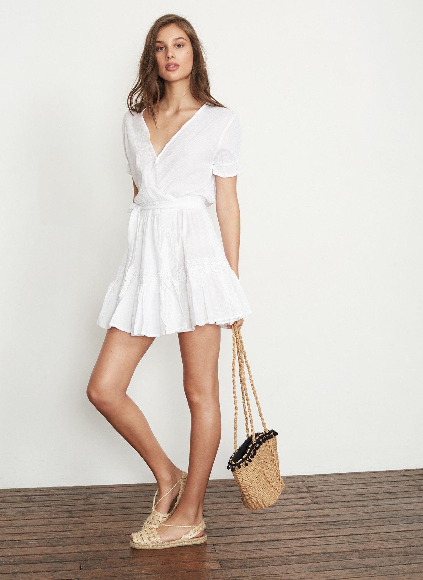 Plain White Liza Dress Faithfull The Brand International Dresses Dress Up Evening Dresses [ 2000 x 1461 Pixel ]