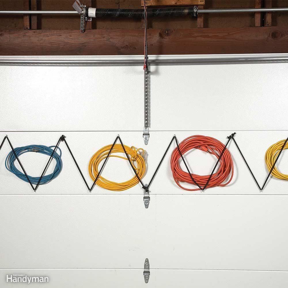 Garage Door Extension Cord Storage & Garage Door Extension Cord Storage | Tool Storage | Pinterest | Cord ...
