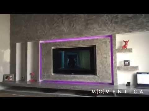 ralisation dune bibliotheque sur mesure dans un salon avec meuble tl boulogne billancourt - Meuble Tv Living Blanc Laque For You