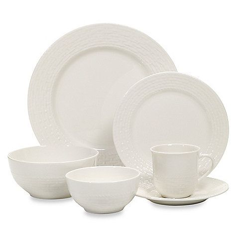 Bed Bath u0026 Beyond Gibson; Noble Weave 48-Piece Stoneware Dinnerware Set in  sc 1 st  Pinterest & Bed Bath u0026 Beyond: Gibson; Noble Weave 48-Piece Stoneware Dinnerware ...
