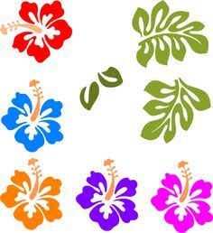 hawaiian flower clip art tropical mix clip art vector clip art rh pinterest com