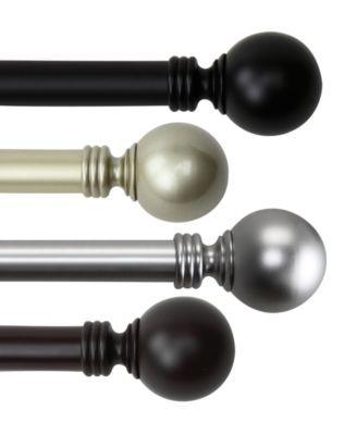 Globe Single Curtain Rod 120 170 In 2020 Single Curtain Rods Curtain Rods Finials For Curtain Rods