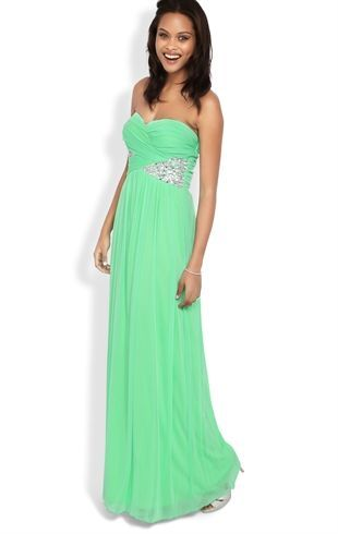 Deb Shops Strapless Long #Prom #Dress with Ruched Bodice and Stone ...
