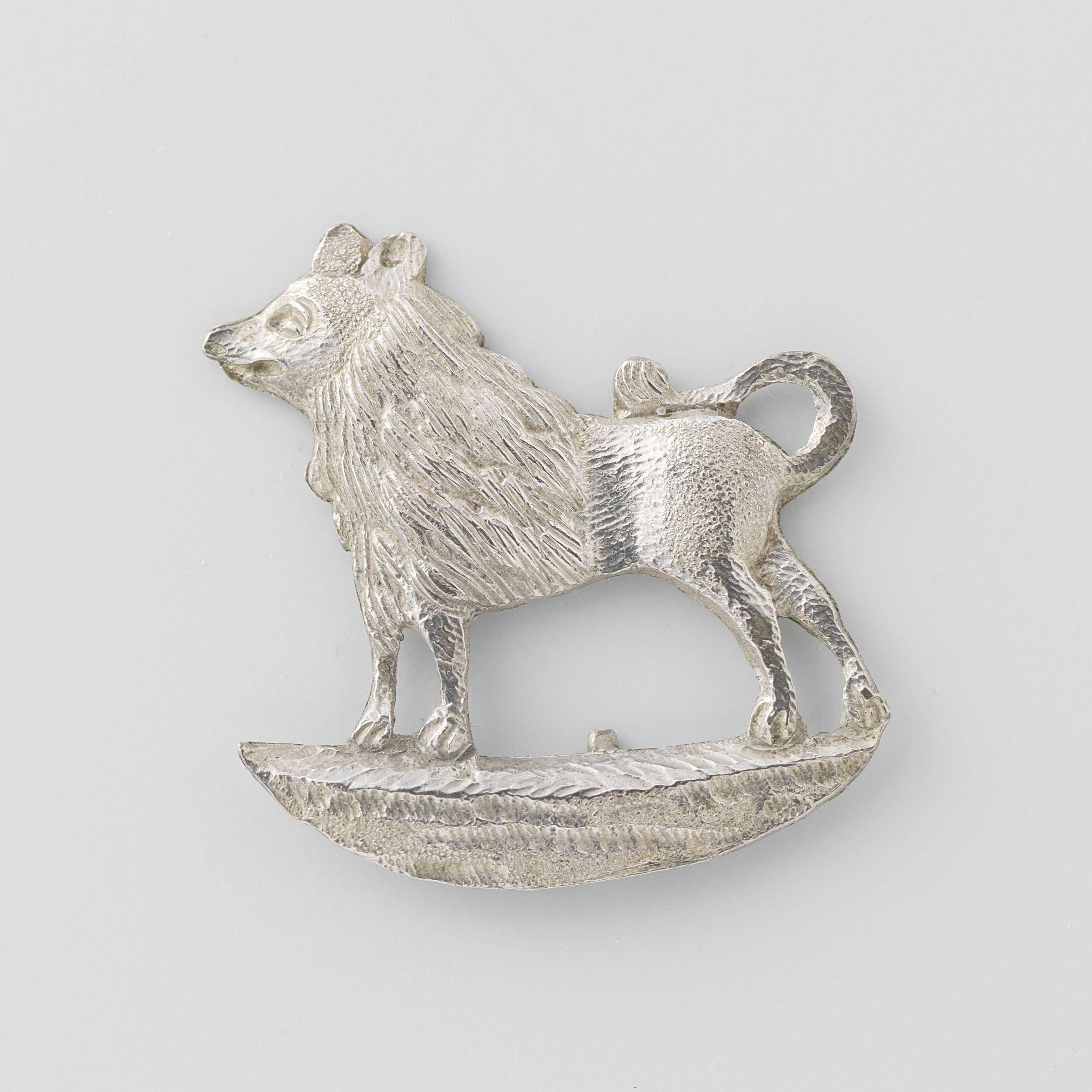 Keeshondje, anoniem, 1784 - 1787, worn as a symbol of patriotism.