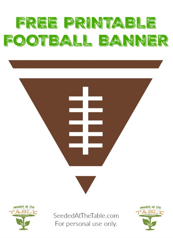 FREE! Printable Football Banner - perfect for your fireplace mantle ...