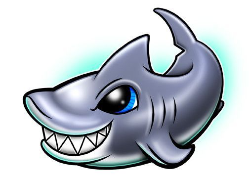 b9a1437a0b5e4 Shark Temporary Tattoo - Under The Sea Tattoos - perfect for shark themed  birthday party favors!
