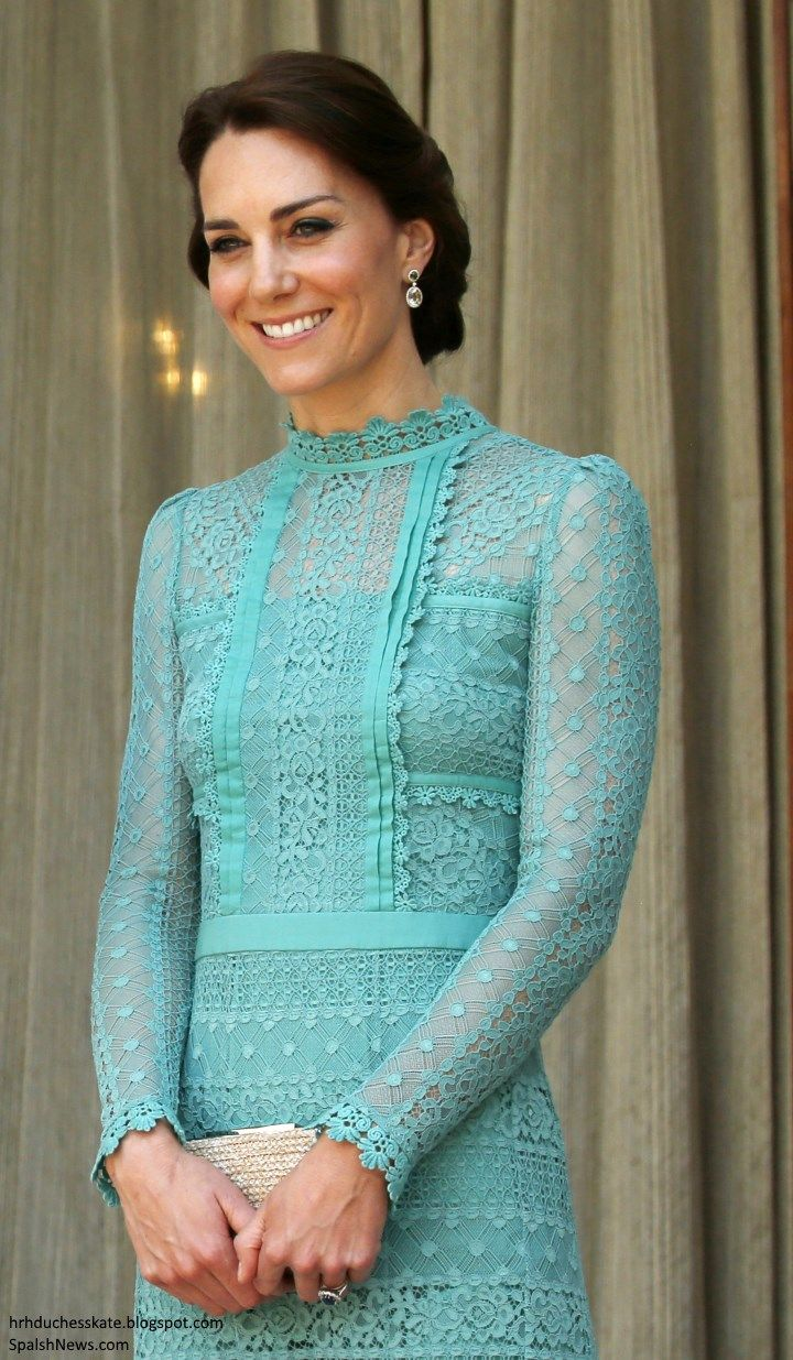 Duchess Kate: Elegant Kate in Jade Temperley London for Lunch with ...