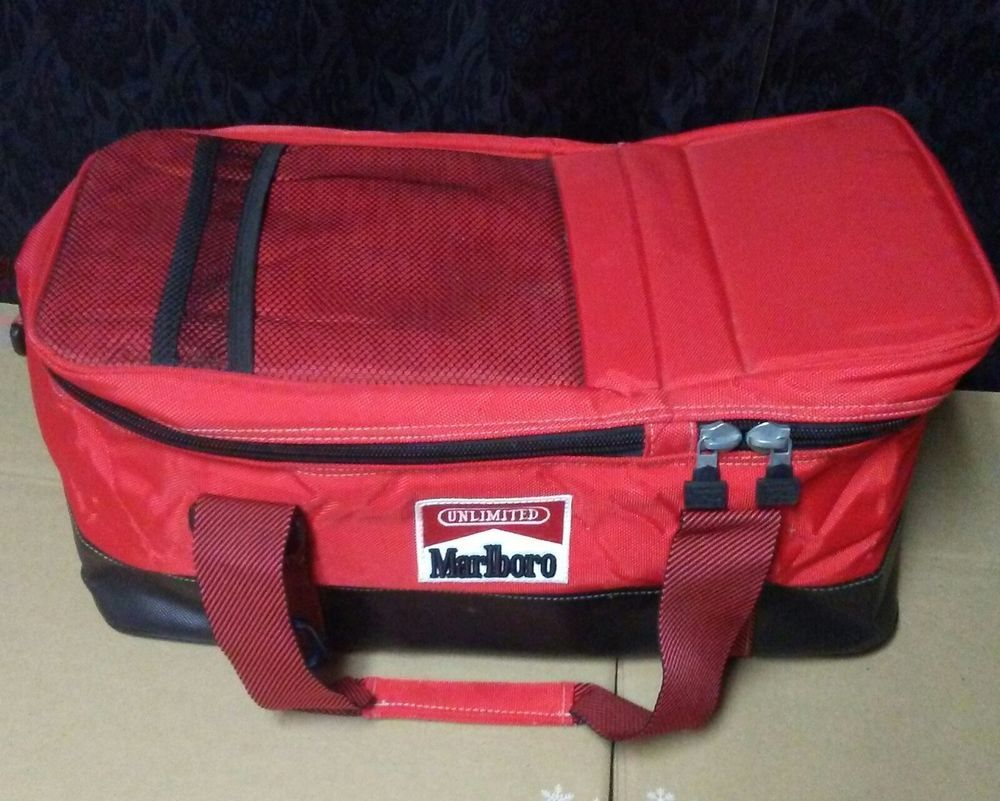 Marlboro Insulated Cooler Bag Unlimited 2 Large Cooled Pockets Picnic Straps
