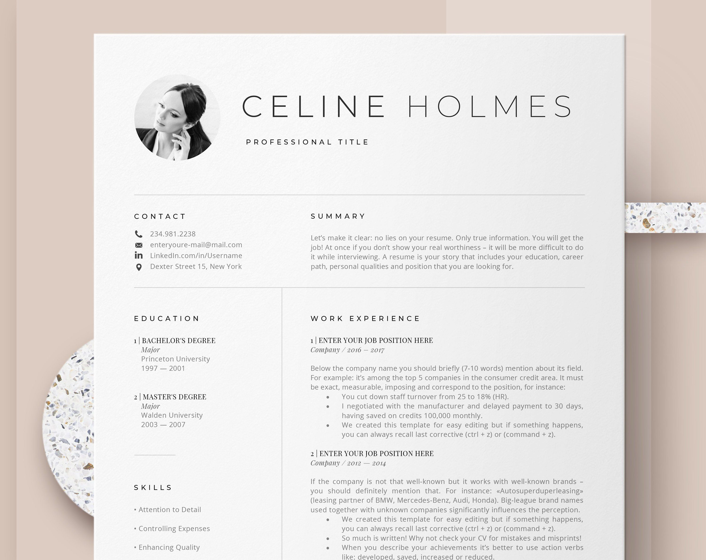 When You Lie On Your Resume And Still Get The Job Creative Resume Templates Instant Download Resume Template Examples Creative Resume Templates Resume Template