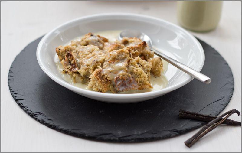 moeys kitchen: Frühstück deluxe: Brotpudding aus dem Ofen mit warmer Vanillesauce