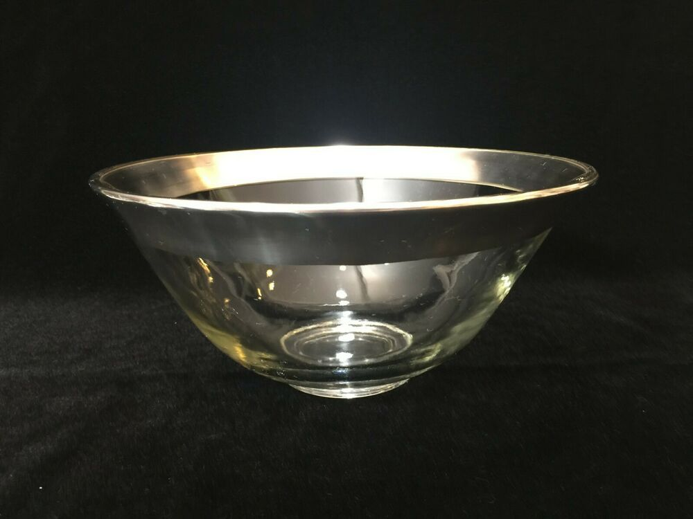 Vintage Rare Dorothy C Thorpe Crystal Silver Bowl 4 3 4 Tall