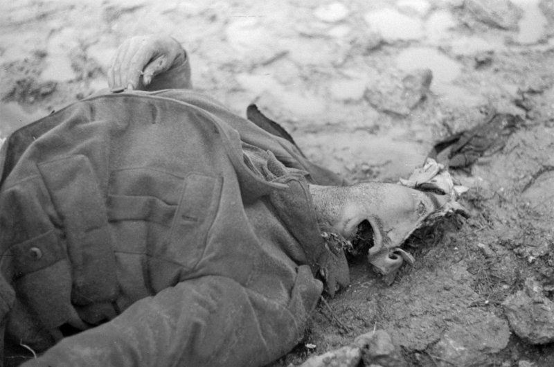 Disturbing! Spain, 1937. @ John Fernhout (Ferno) - Italian soldier's mortal remains - battle Guadalajara/Brihuega