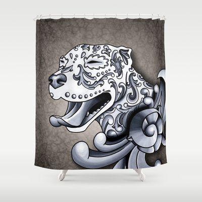 Cute Pitbull Shower Curtains Lightness Art Dog Bathroom Shower Curtains Funny Animal High Quality Polye Funny
