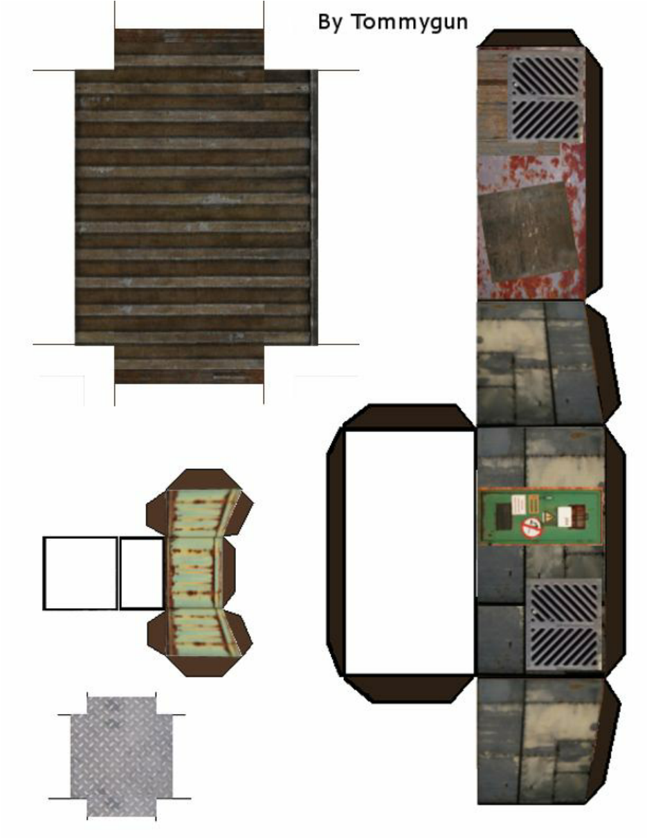 Andys Armies 28mm Paper Terrain Buildings Billboards And Bits Paper Models House Paper Models Free Paper Models