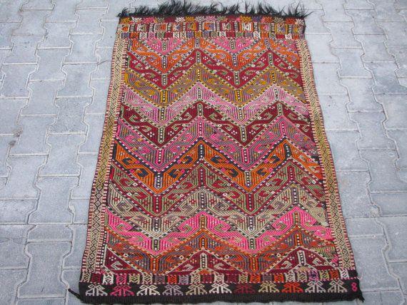 boho kilim rug pink kilim pink rug purple kilim boho style tribal rug hand embroidered rug on boho chic kitchen rugs id=99760