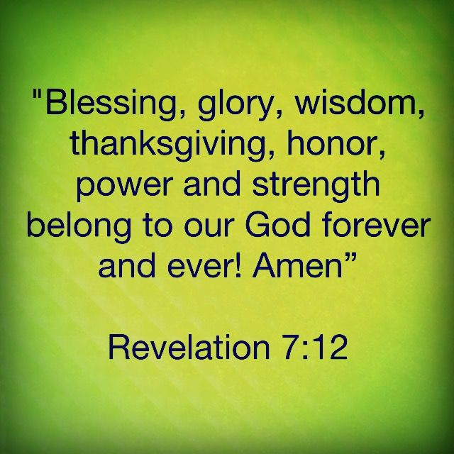 Blessing Glory Wisdom Thanksgiving Honor Power And