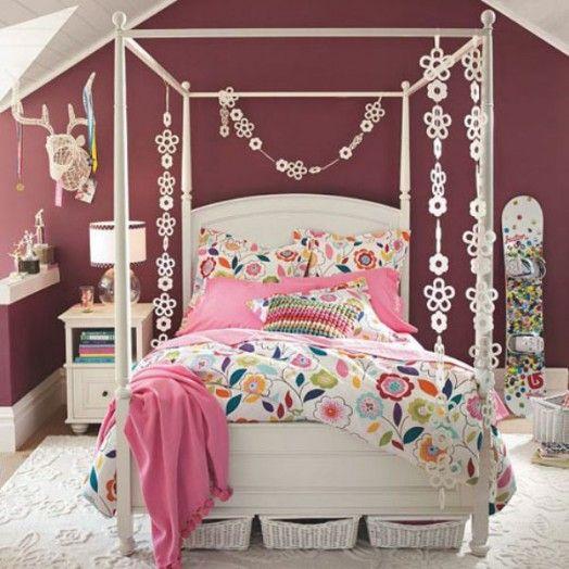 Mädchen-Kinderzimmer - 10 schöne Gestaltungsideen - #Kinderzimmer ... | {Kinderzimmer mädchen 87}