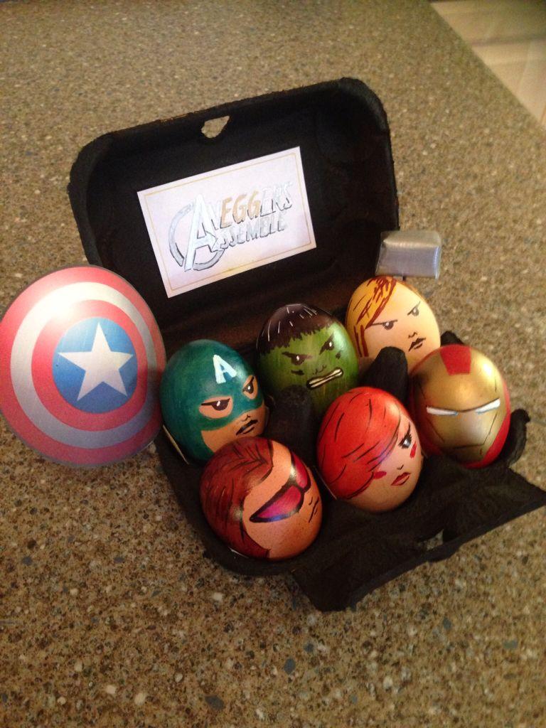 Egg decorating - Avengers Assemble   MARVEL   Easter egg ...