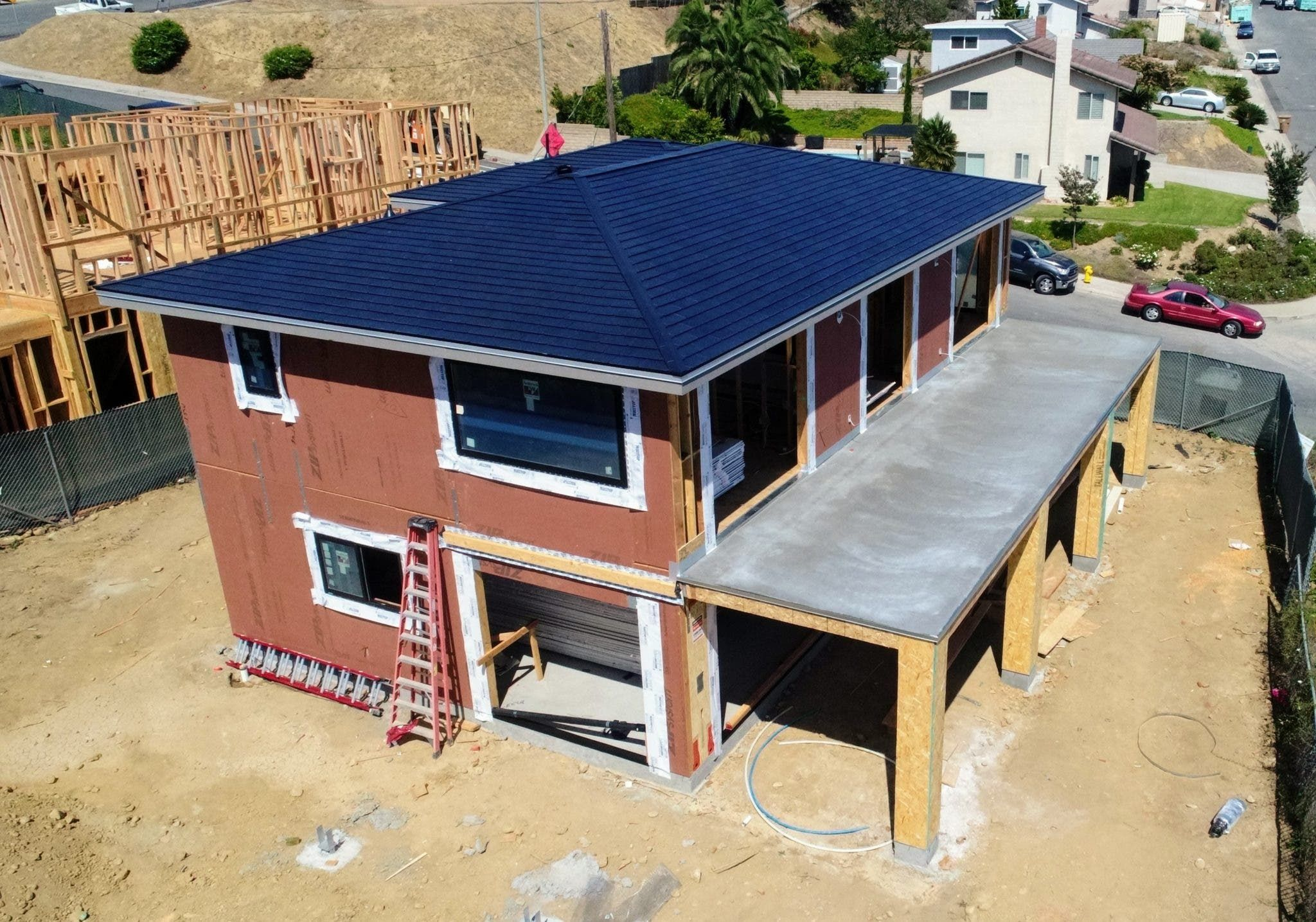 Tesla Installed The Solarglass Roof On Our New Home Cleantechnica Exclusive In 2020 Tesla Solar Roof Solar Roof New Homes