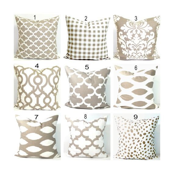 On Sale Get An Instant Makeover For Your Home Just By Changing The Pillows My Pillow C Tan Throw Pillow Neutral Throw Pillows Tan Pillows