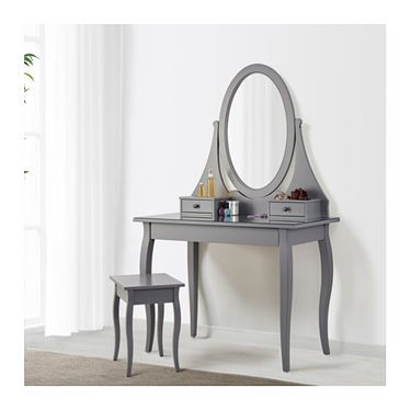 Best Hemnes Dressing Table With Mirror Grey 100X50 Cm In 2020 640 x 480