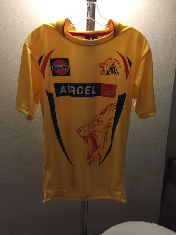 ecdfea3c40f7 Ipl Chennai Super Kings Cricket Jersey Adult Small Indian Premier League