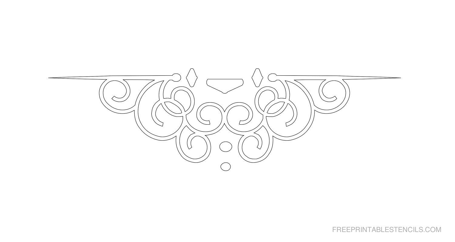 Free Printable Ornamental Border Stencil B