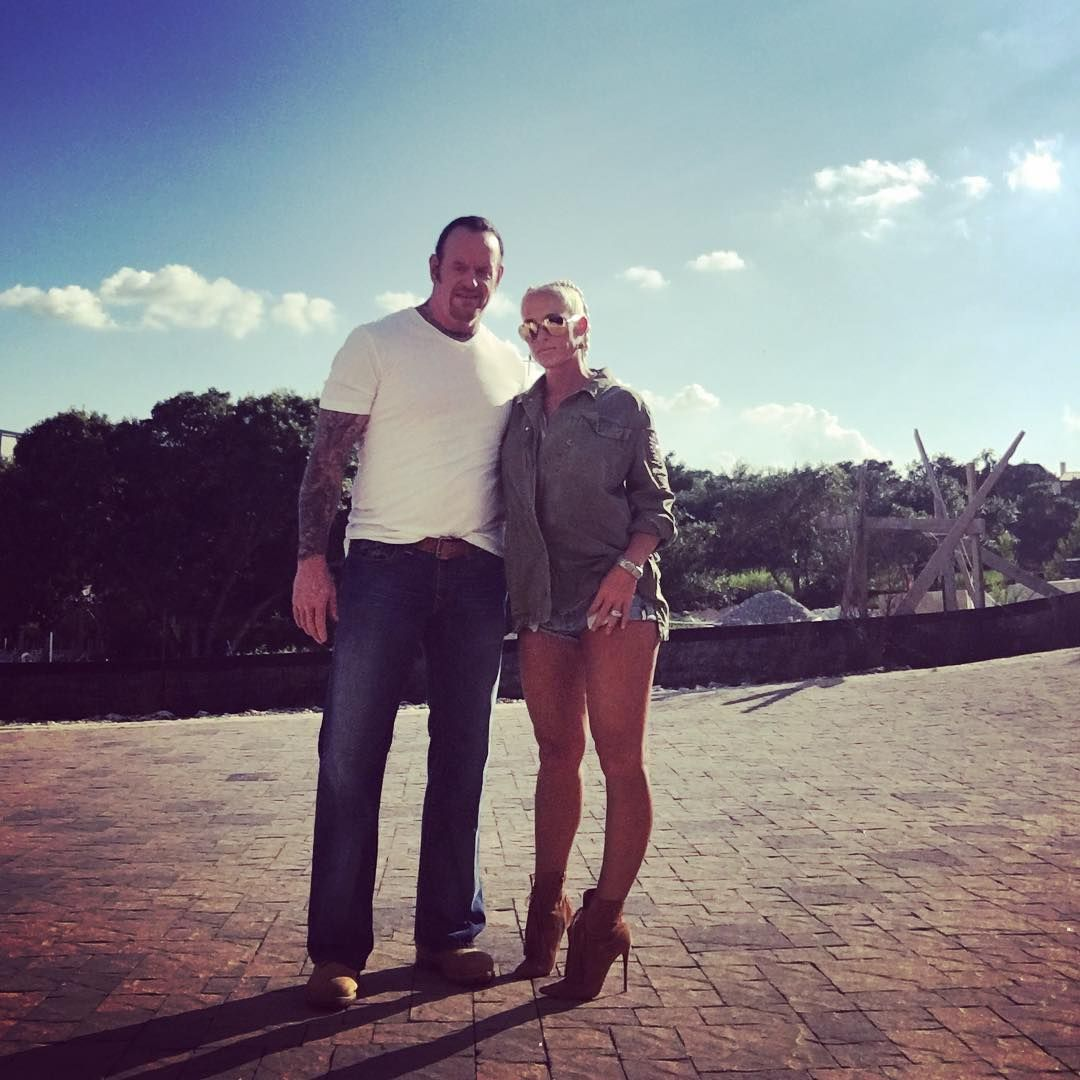 Michelle McCool posted the following photo on Instagram of ...Michelle Mccool And Undertaker 2013