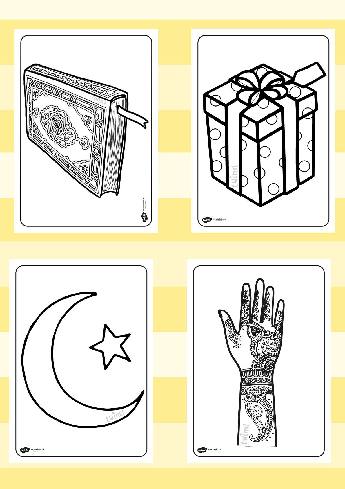 Twinkl Resources Eid Colouring Sheets Printable Resources