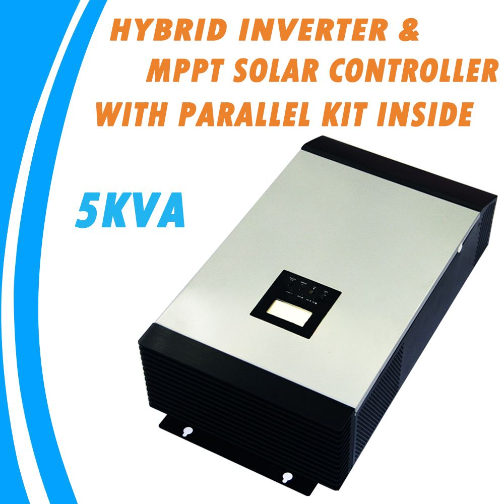 5kva Pure Sine Wave Hybrid Inverter Built In Mppt Solar Charge True Idea Controller With Parallel Kit