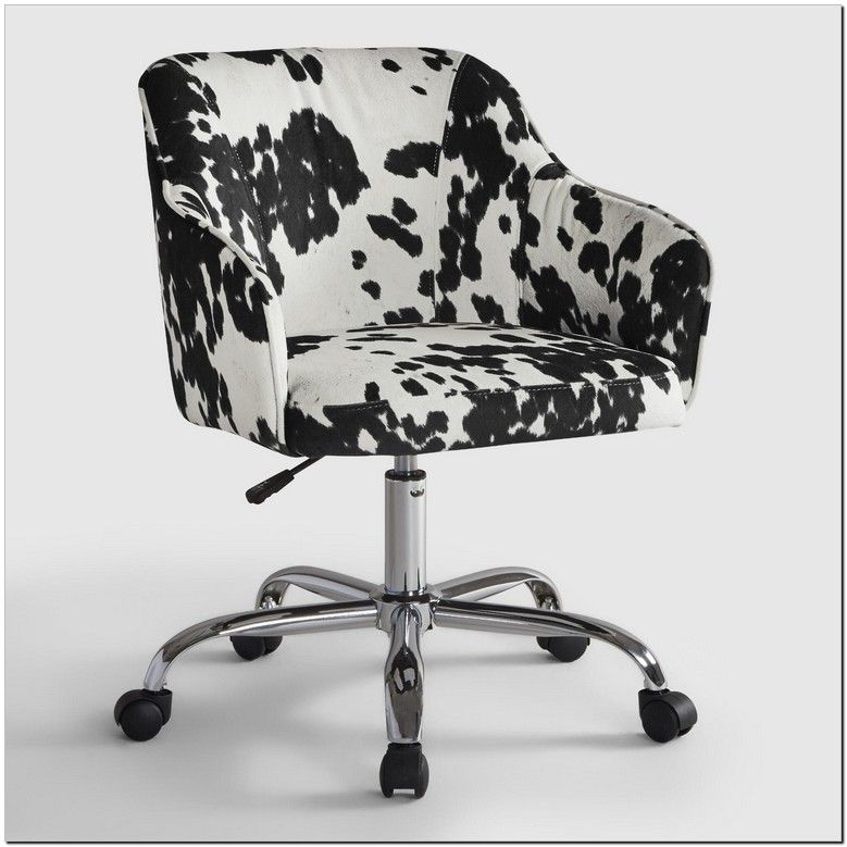 Affordable Cow Print Chair With Arms,