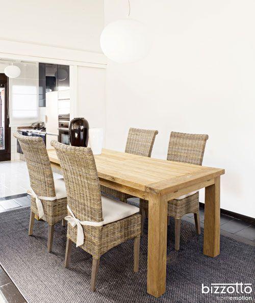 Tavolo Bounty e sedia Dominica ideale per un utilizzo