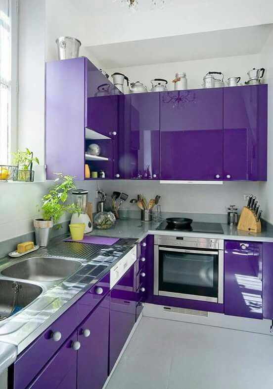 i love purple and i love this purple kitchen but i don t think i could live with it purple on t kitchen ideas id=46592