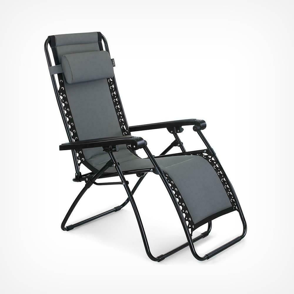 Cool Oxford 600D Zero Gravity Reclining Sun Lounger Chair Garden Machost Co Dining Chair Design Ideas Machostcouk