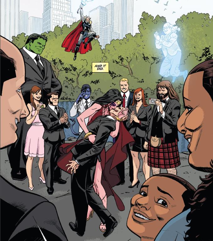 Shiklah And Deadpool Wedding Marvel Deadpool Marvel Comic Character Deadpool