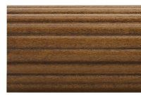 1 3 8 Fluted Decorative Wooden Curtain Rods 4 Foot By Kirsch