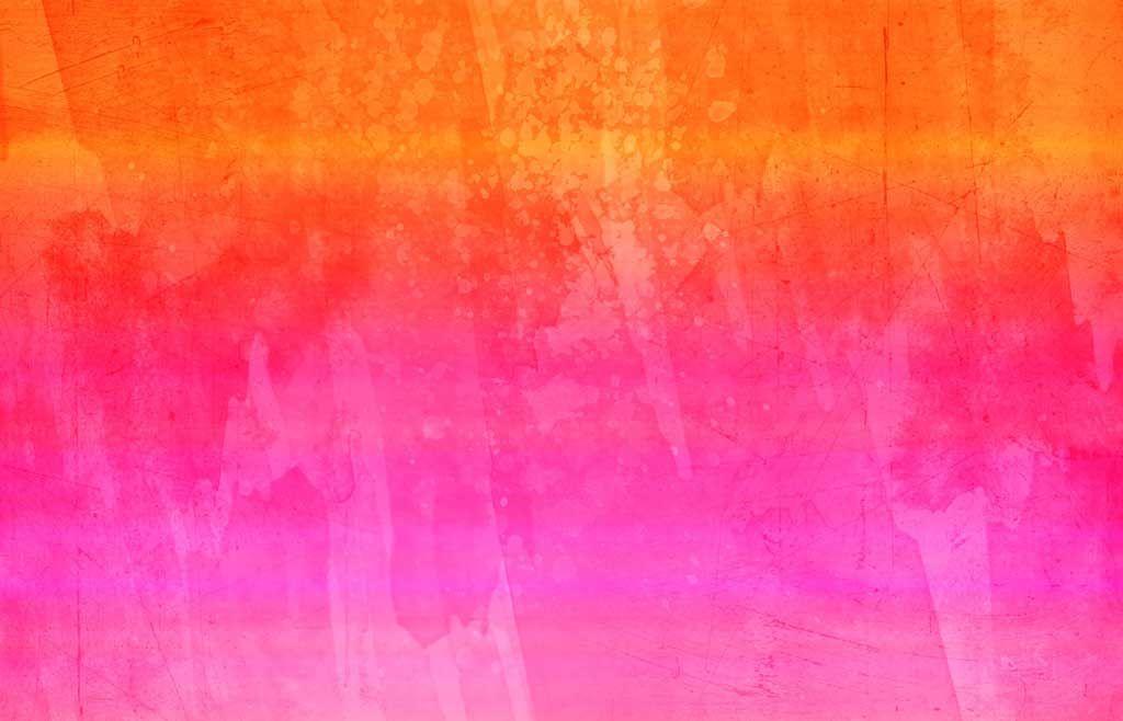 Frreeeeeeeeeeeee Bright Orange Pink Watercolor Grunge Background
