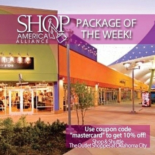 Shop And Shuttle To The Only Outlet In The State Of Oklahoma Includes Lunch A Gift Bag Gift Certificate Coupon Book Shopping Tour Shop America Coupon Book