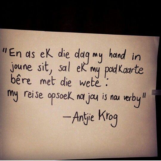 Antjie Krog Afrikaans Quotes Afrikaanse Quotes Afrikaans