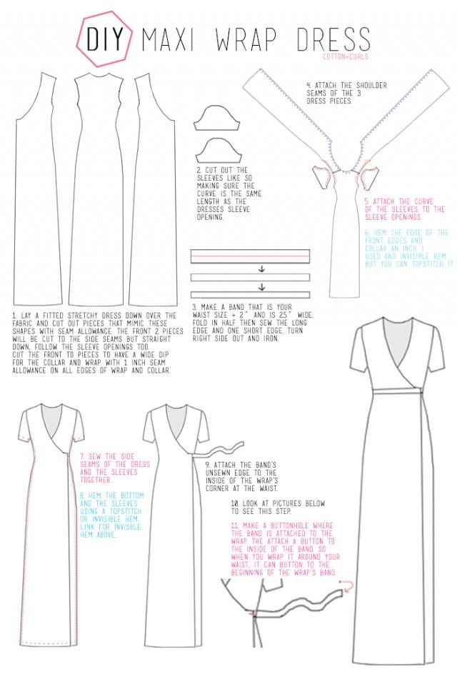 DIY MAXI WRAP DRESS Tutorial | Diy/Sewing | Pinterest | Costura ...