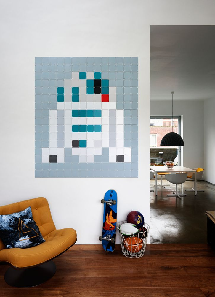 Experience the Force in a whole new way with pixelated Star Wars characters such as the cute R2-D2!  www.ixxidesign.com/starwars #IXXI #StarWars #ixxiyourworld #starwarsbyixxi #R2D2